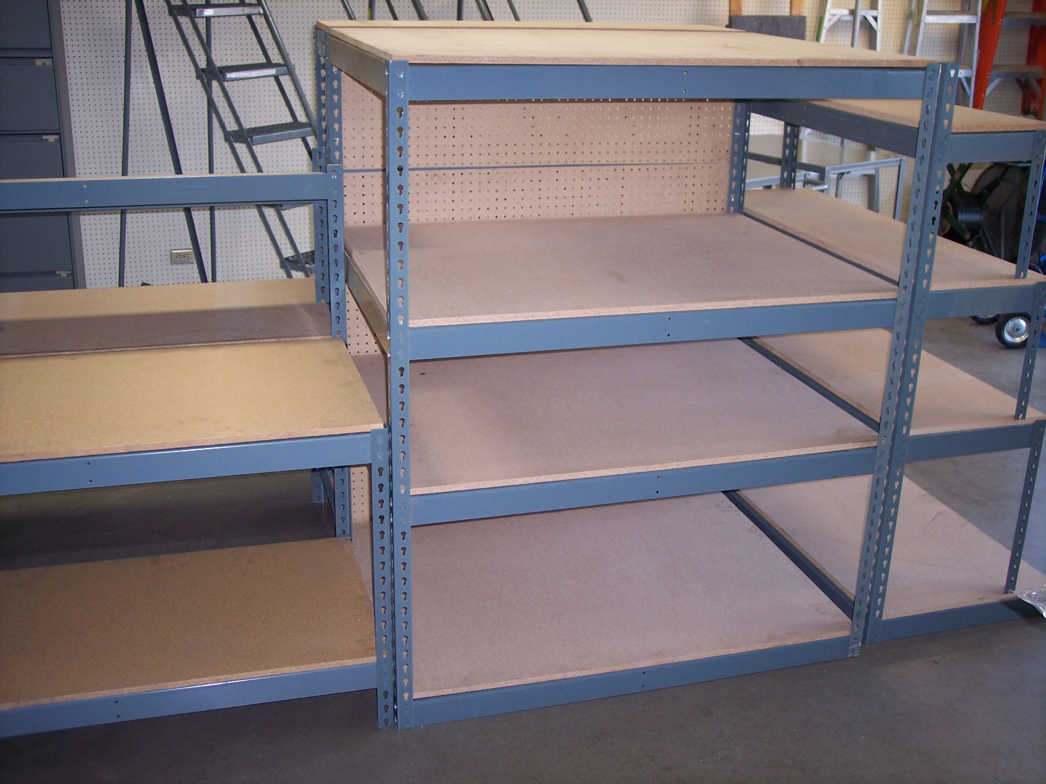 a a boltless rack and shelving warehouse storage solutions showroom
